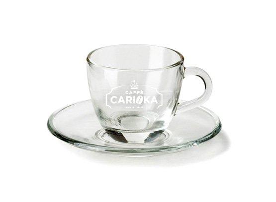 Tazzina in vetro Caffè Carioka